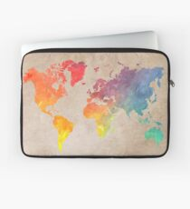 Weltkarte Karten Laptoptasche
