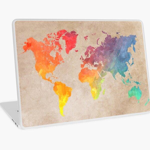 World Map maps Laptop Skin