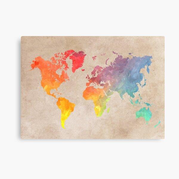 World Map maps Metal Print