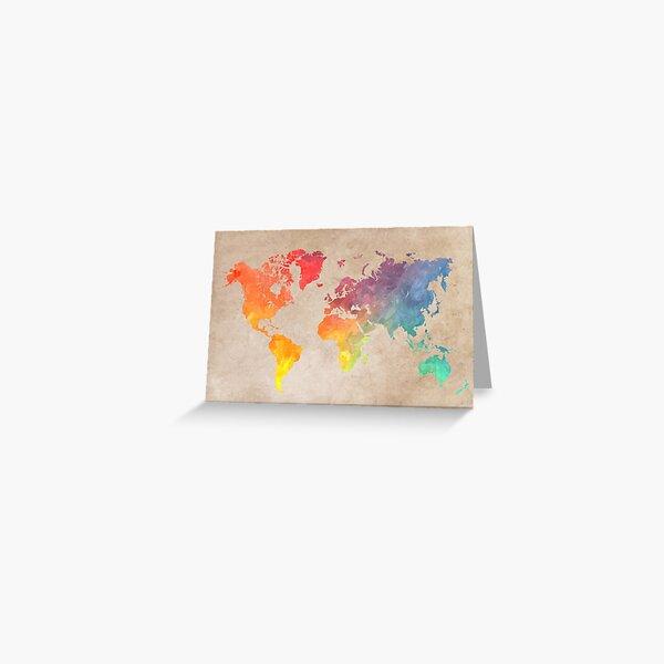 World Map maps Greeting Card