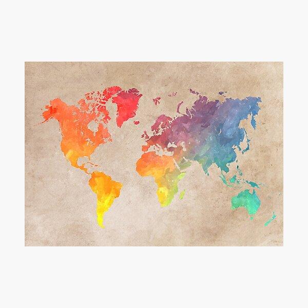 World Map maps Photographic Print
