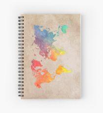 Cuaderno de espiral Mapas del mapa mundial