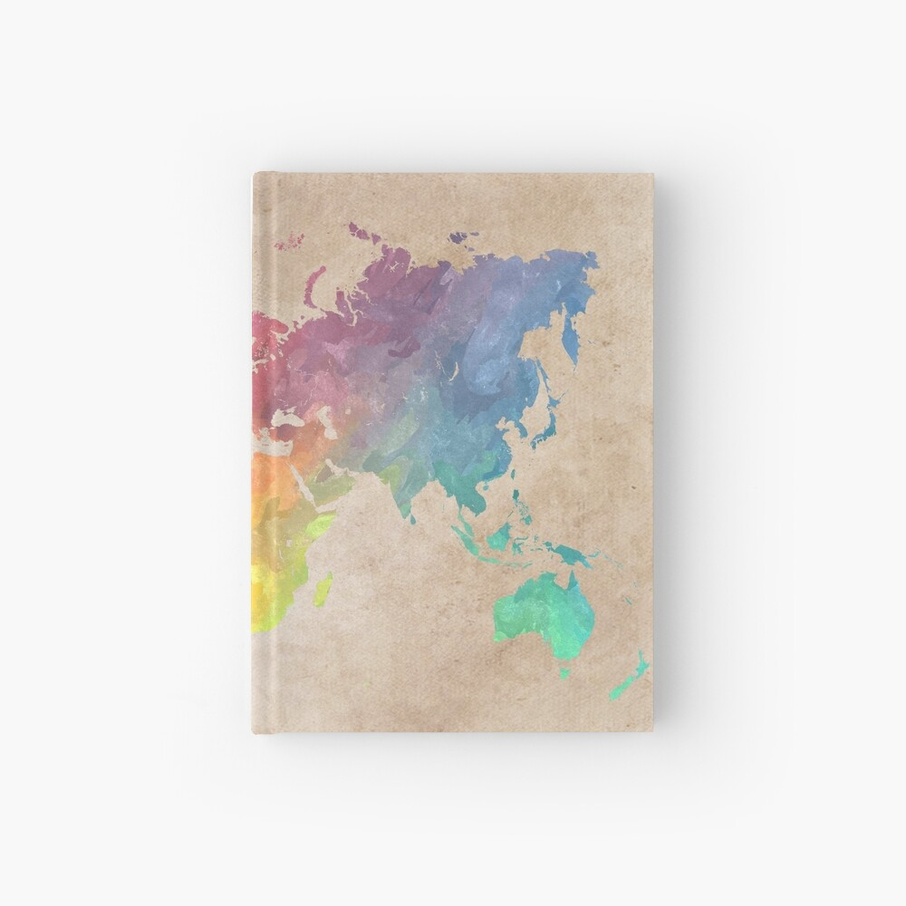 World Map maps Hardcover Journal