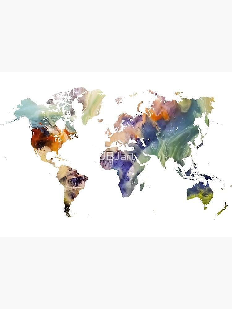World Map watercolor painting #map #worldmap by JBJart