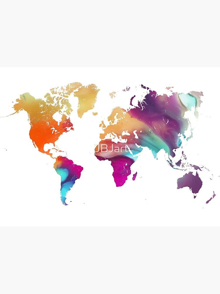 World map watercolor #map #worldmap by JBJart