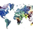 World map cosmos by JBJart