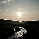 Sun rise over the High Tees by clickinhistory