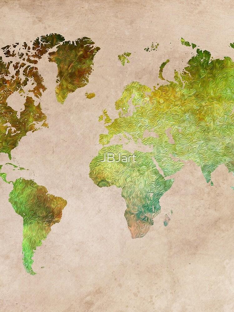 Green World Map ecology #map #worldmap by JBJart