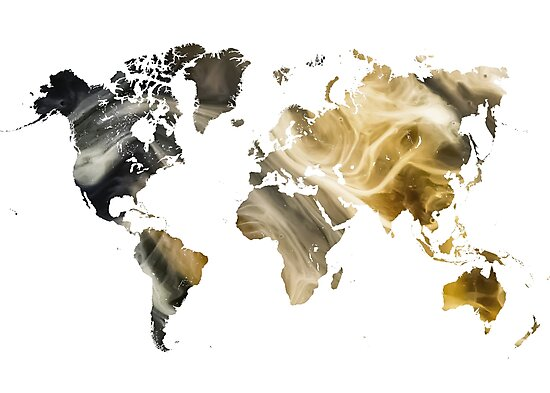World Map Sandy world by JBJart