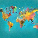 World map blue by JBJart