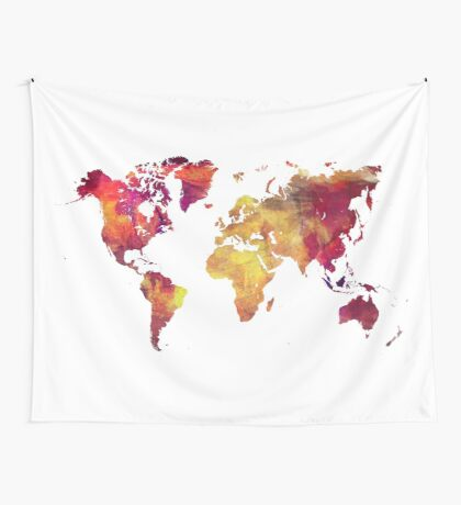 Map of  the world after nuclear war Wall Tapestry