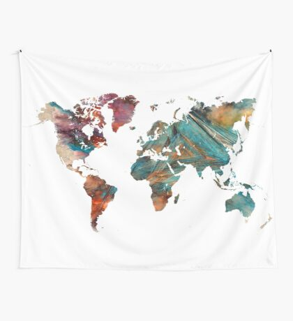 World Map triangle Wall Tapestry