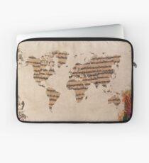 Funda para portátil Mapa mundial de la música