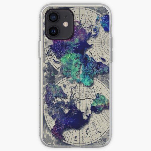 map of the world #map #worldmap iPhone Soft Case