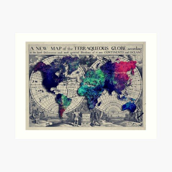 map of the world #map #worldmap Art Print