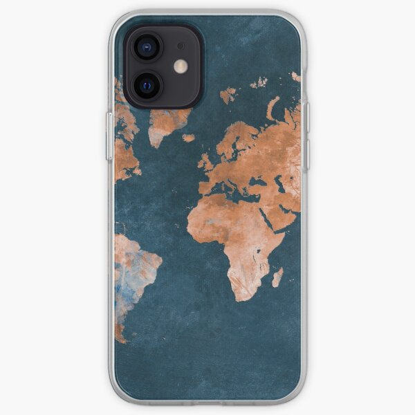 world map 15 #map #worldmap iPhone Soft Case