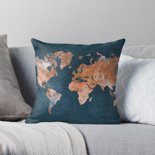 world map 15 #map #worldmap Throw Pillow
