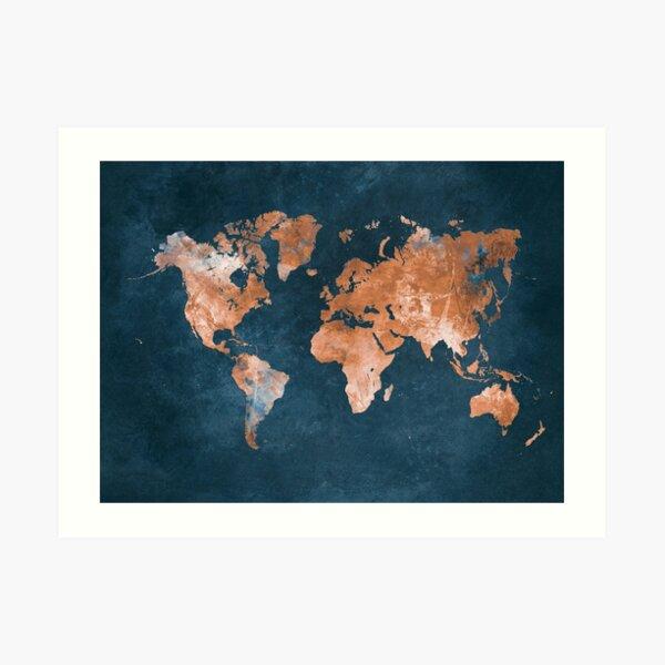 world map 15 #map #worldmap Art Print