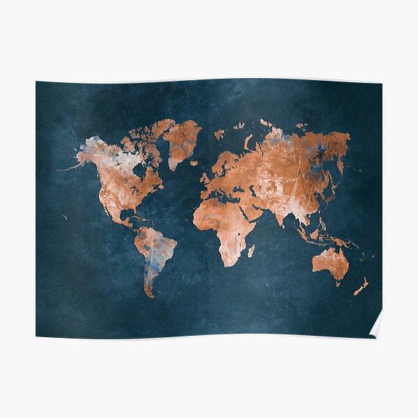 world map 15 #map #worldmap Poster