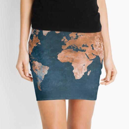 world map 15 #map #worldmap Mini Skirt