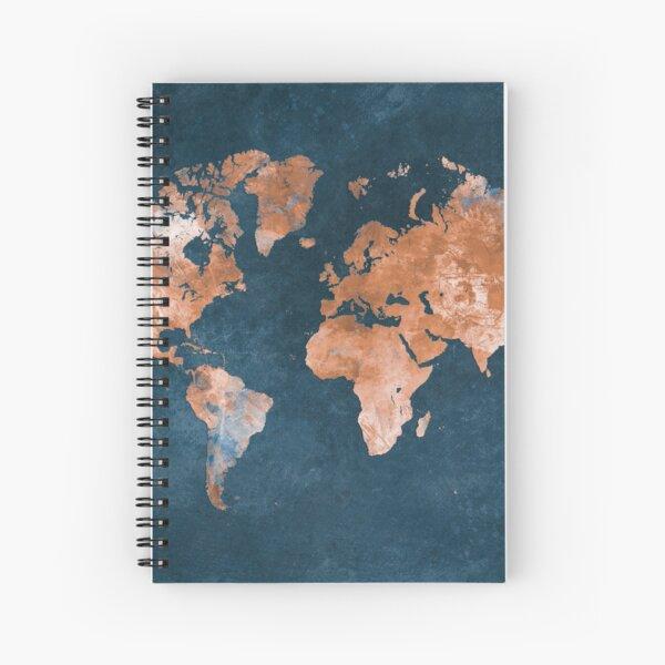 world map 15 #map #worldmap Spiral Notebook
