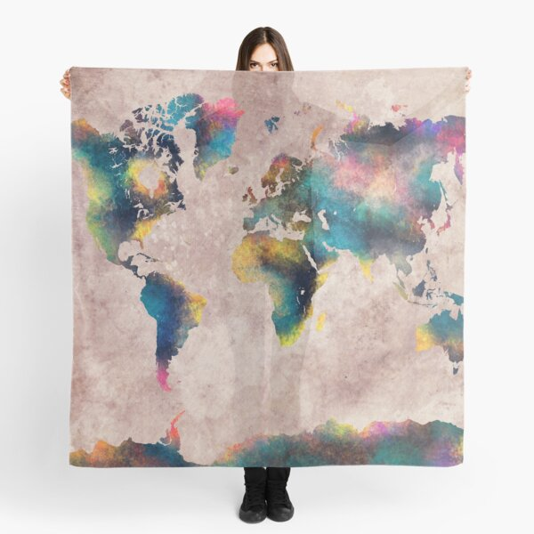 World Map #map #worldmap Scarf