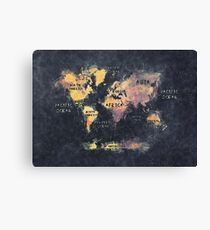 world map 12 Canvas Print