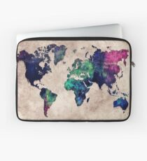 World map watercolor 1 Laptop Sleeve