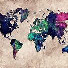 World map watercolor 1 by JBJart