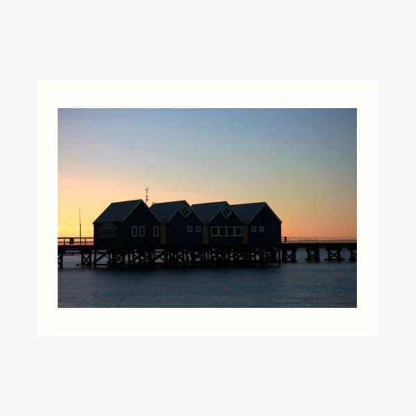 Busselton Sunset HDR Art Print