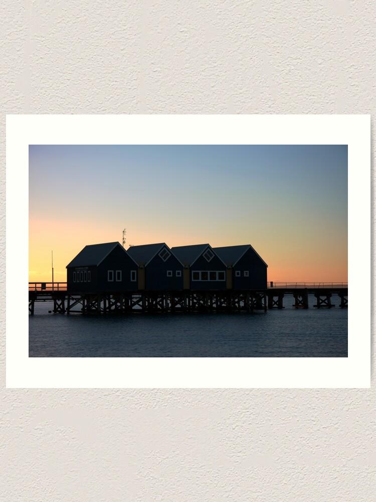 Alternate view of Busselton Sunset HDR Art Print