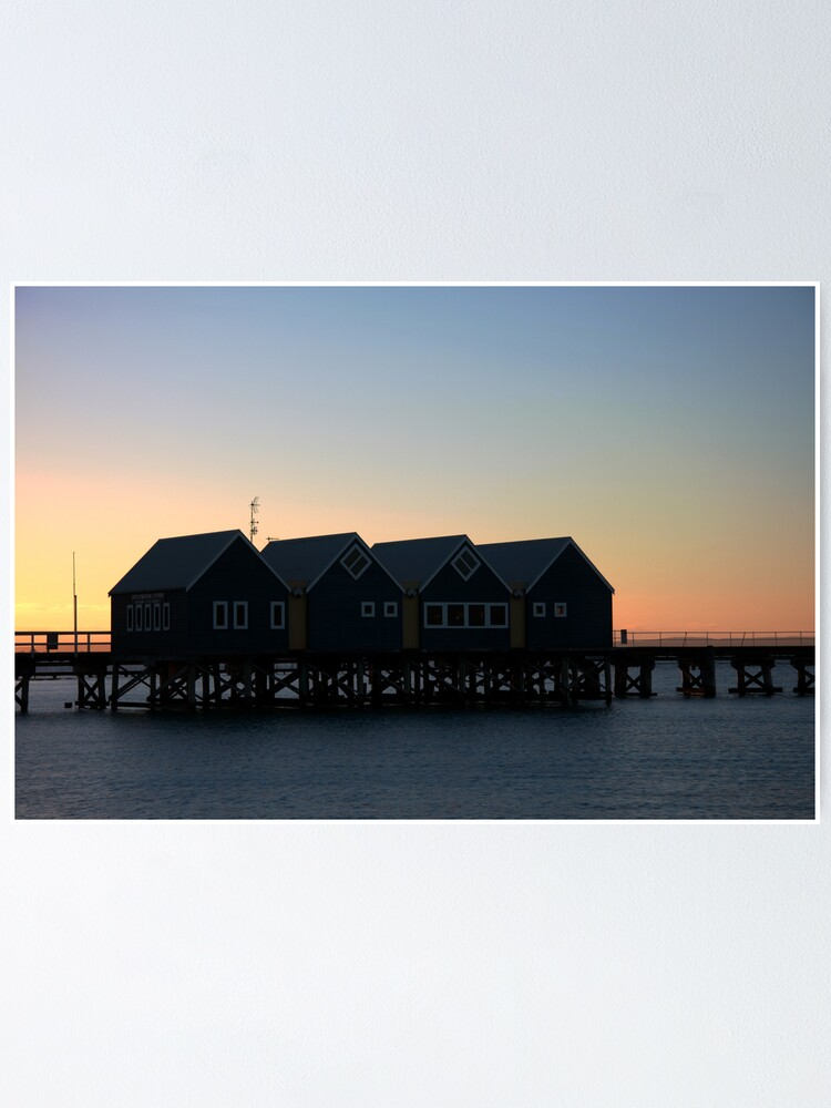 Alternate view of Busselton Sunset HDR Poster