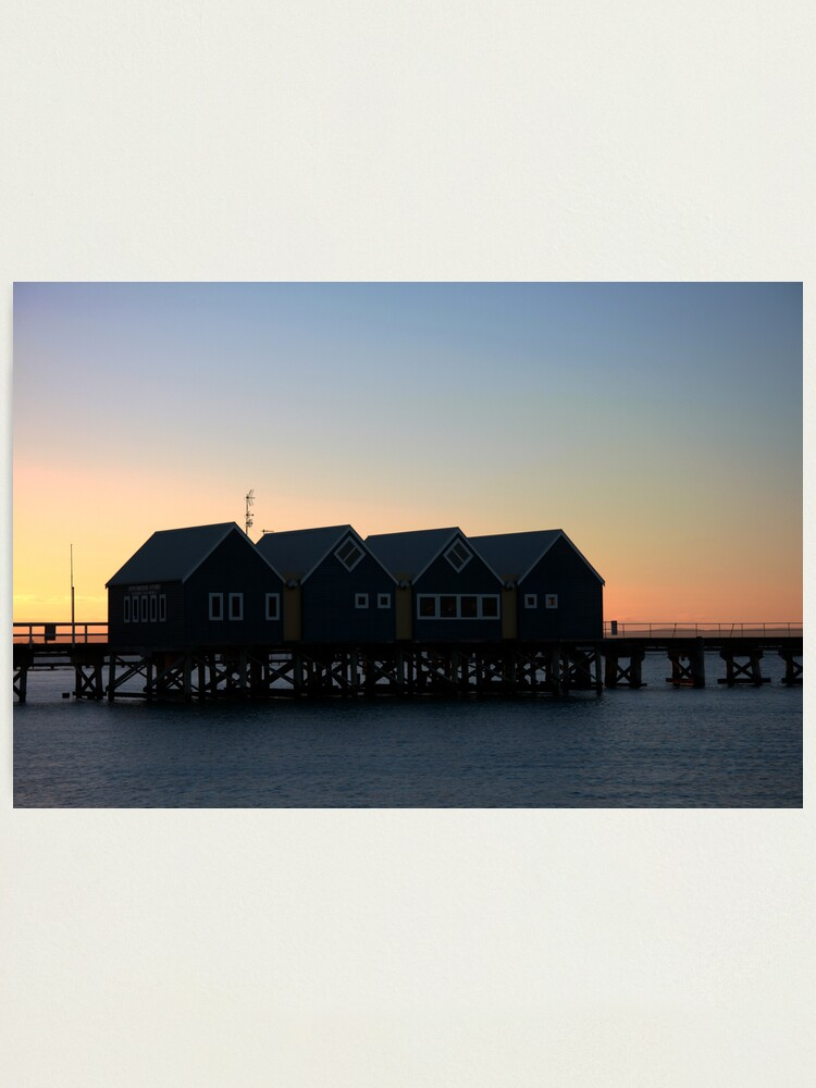 Alternate view of Busselton Sunset HDR Photographic Print