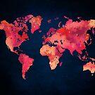 World map red by JBJart