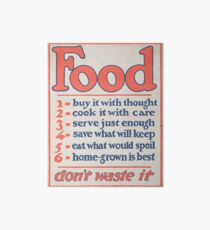 United States Department of Agriculture Poster 0266 Food Don't Waste it Art Board