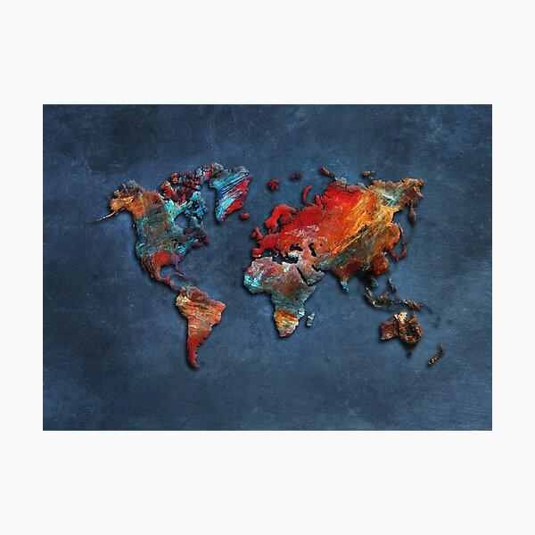 World Map 2020 #map #worldmap Photographic Print