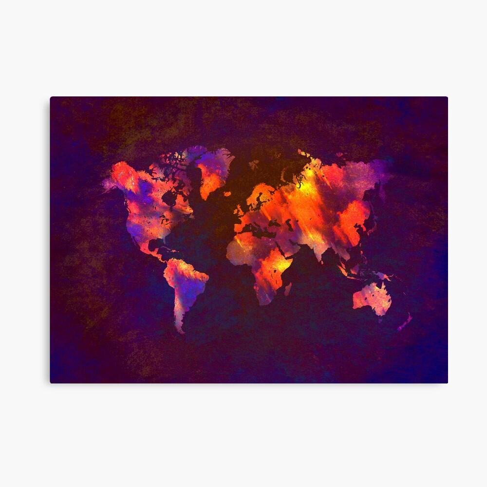 Weltkarte Leinwanddruck