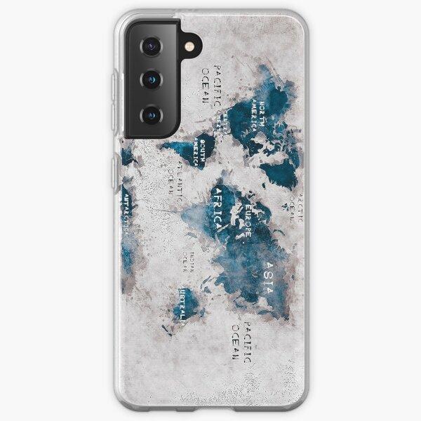 world map 13 Samsung Galaxy Soft Case