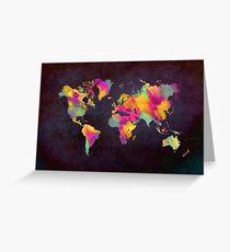 Weltkarte Grußkarte