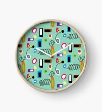 Mod Abstract Green Clock