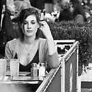 Girl at Cafe by Judith Oppenheimer