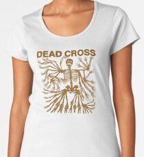 Dead Cross Skeleton Gold Women's Premium T-Shirt