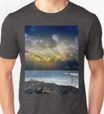 Sunrise over the ocean before storm Unisex T-Shirt