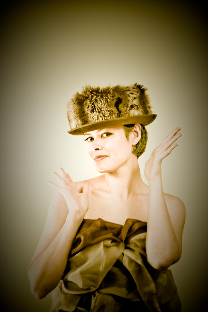 fur hat by Earhart Chappel Inc.   IPA