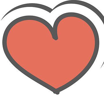 Valentine gift  Love Couple   Friendship Heart gift by Girlscollar
