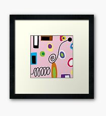 Mod Abstract Pink Framed Print