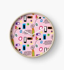 Mod Abstract Pink Clock