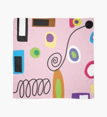 Mod Abstract Pink Scarf