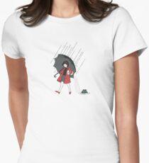 Shape of Water- Morton Salt girl Women's Fitted T-Shirt