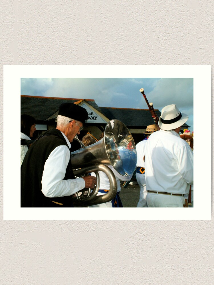 Alternate view of The band plays on... Art Print